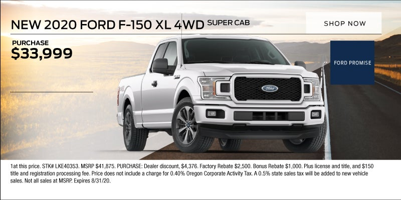 2020 Ford F 150 Xl 4wd Crater Lake Ford Lincoln Specials Medford Or